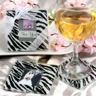 Zebra pattern photo coaster sets