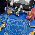 Fleur de lis design set of coasters and bottle opener set