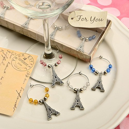 Eiffel Tower Wine Charm Sets