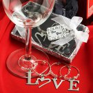 LOVE wine charm favors