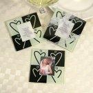 Heart Design Glass Photo Coasters