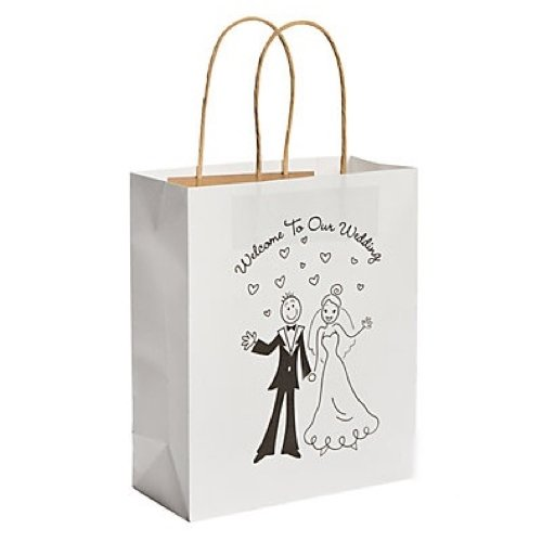 'Welcome to Our Wedding' Happy Couple Design Wedding Gift Bag