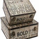 Juliana Luggage Box Set of 2 - Typography - 'Be Bold'