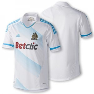 2011-2012 OLYMPIC MARSEILLE Home Soccer Jersey - M