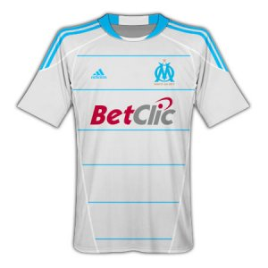 2010-2011 OLYMPIC MARSEILLE Home Soccer Jersey - XL