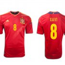 XAVI #8 SPAIN Home Soccer Jersey 2012 - XL