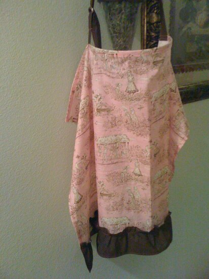 pink toile nursing cover
