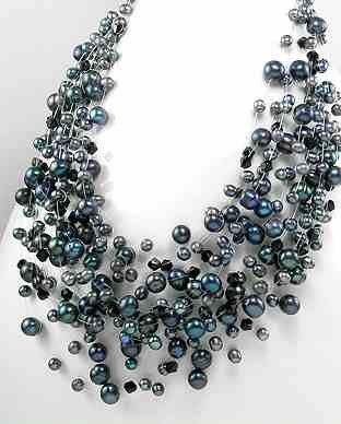 "Black Tahiti Freshwater Pearl 18"" Necklace"