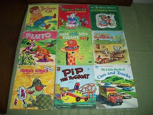 Lot of 9 Vintage Tell A Tales Books 1950's, 60's & 70's