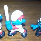 SMURFS lot of 3 Catcher 2 Batters Peyo Schleich