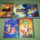Disney DVD Lion King Bambi Lady Tramp Beauty Beast Fox&