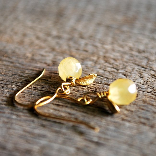 Tiny citrus fruit drops earrings