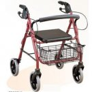2SHC11-WLK009 Walker and seat/Flodable Walker frame with rollers and shopping basket