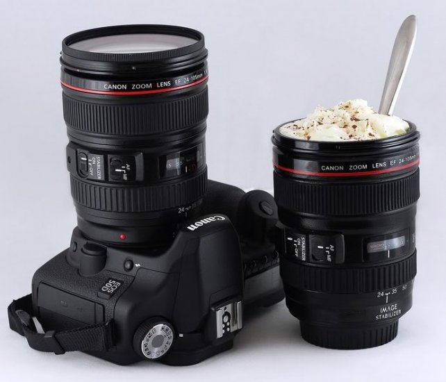 Canon EF 24-105mm f/4L IS USM Lens Plastic Coffee Cup w/ Stainless Steel Interior
