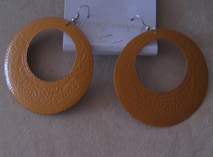 Dark Orange Earrings