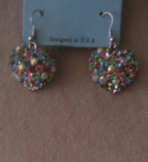 Blinged Valentine Earrings