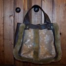 Bath & Body Works Small Brown Faux Suede & Fur Tote