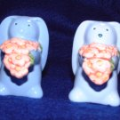 Avon Blue Springtime Bunny Salt And Pepper Set