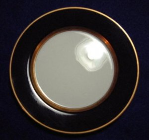 Fitz And Floyd Black And Gold Rimmed Bread Plate