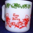 Hazel Atlas Tom And Jerry Milk Glass Punch Mug