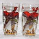 Vintage Pheasant Hunt Glasses Set (1950's)