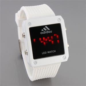 SCL002 Waterproof Stainless Steel LED Watch (White)