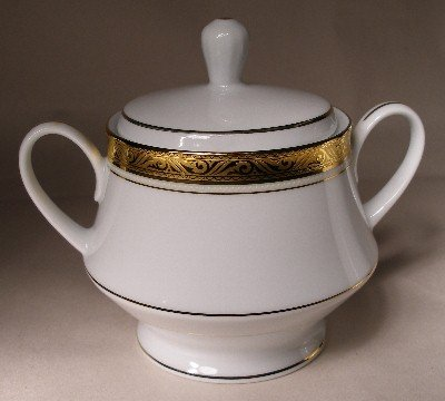 Noritake Majestic Gold Sugar Bowl w/Lid NEW 4290