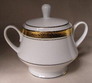 Noritake Majestic Gold Sugar Bowl w/Lid NEW 4290