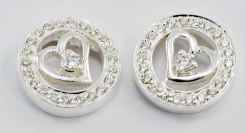 Heart Shape Diamond Earrings JE 0052