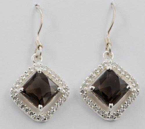 Square Gemstone Earrings JE 0043