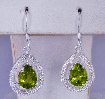 Oval Green Gemstone Eariings JE 0059