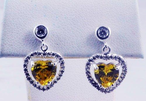 Heart Pattern With Diamond Earrings JE 0066