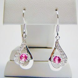 Pink Gemstone Earrings JE 0032