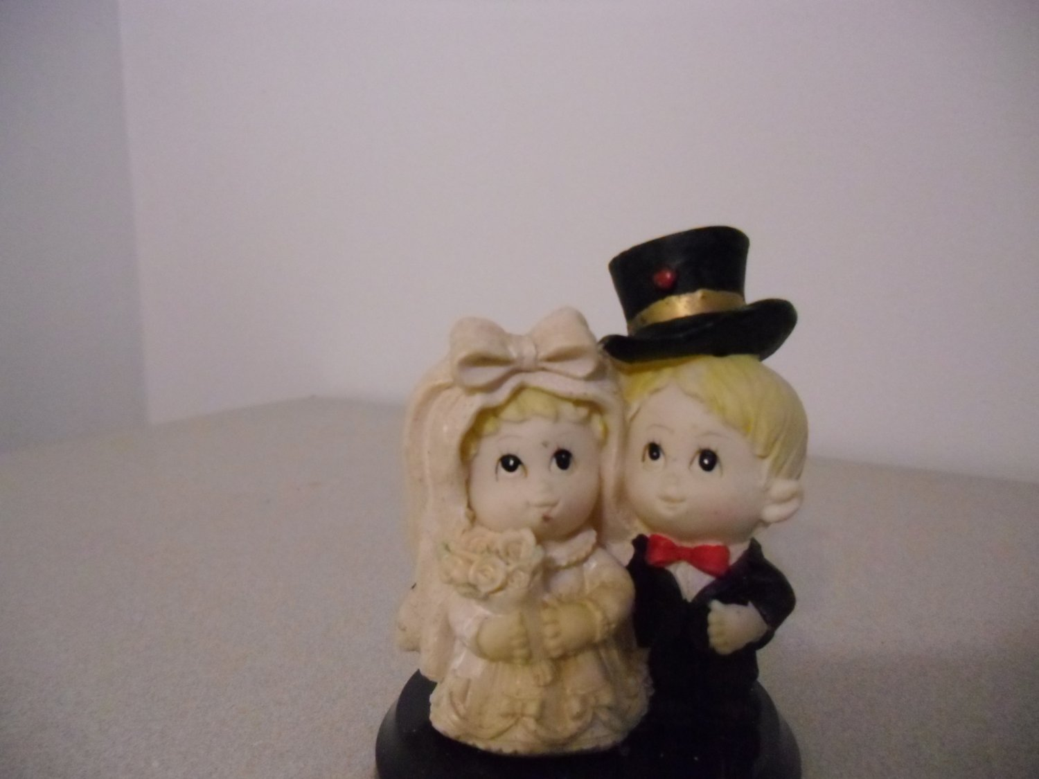 Little Bride and Groom Couple Wedding Cake Topper
