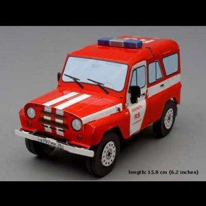 UAZ 31514 Fire Depot. 1/24 scale model kit