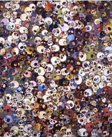 Takashi Murakami Prints Skulls There Are Little People Inside Me
