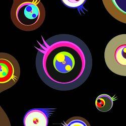 Takashi Murakami Prints Jellyfish Eyes Black