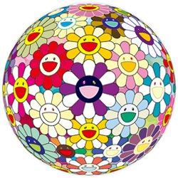 Takashi Murakami Print Violet Flowerball