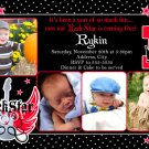 ROCK STAR ROCKSTAR 1ST 2ND 3RD Photo Birthday Party Invitations