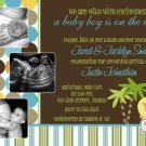 KING OF THE JUNGLE Ultrasound Photo Baby Shower Invitation