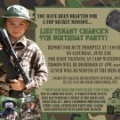Camo Camouflage Birthday Invitation Photo Army Military Marines