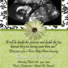 Unisex Boy Girl Ultrasound Sonogram Photo Baby Shower Invitation