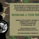 Camo Camouflage Baby Shower Invitation Army Military Marines Ultrasound