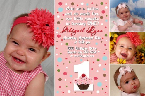 BOUTIQUE CUPCAKE CUPCAKES BIRTHDAY INVITATIONS