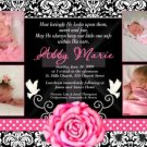 Girl Baptism Communion Christening Invitation Announcement Photo