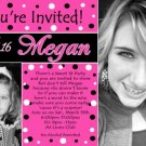 Unique Sweet Sixteen 16 Photo Birthday Party Invitation