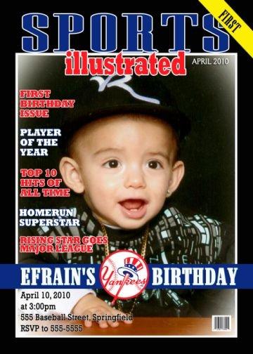 Sports Illustrated Magazine Cover Birthday Invitation