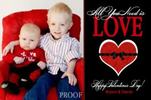 Valentine's Day Valentine Custom Personalized Cards Invitations