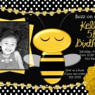 BUMBLE BEE BA-BEE BABY SHOWER OR BIRTHDAY INVITATION