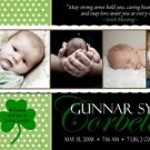 IRISH BLESSING SHAMROCK Baby Boy Birth Announcement